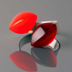 Bague MX 357 rubis et rouge...